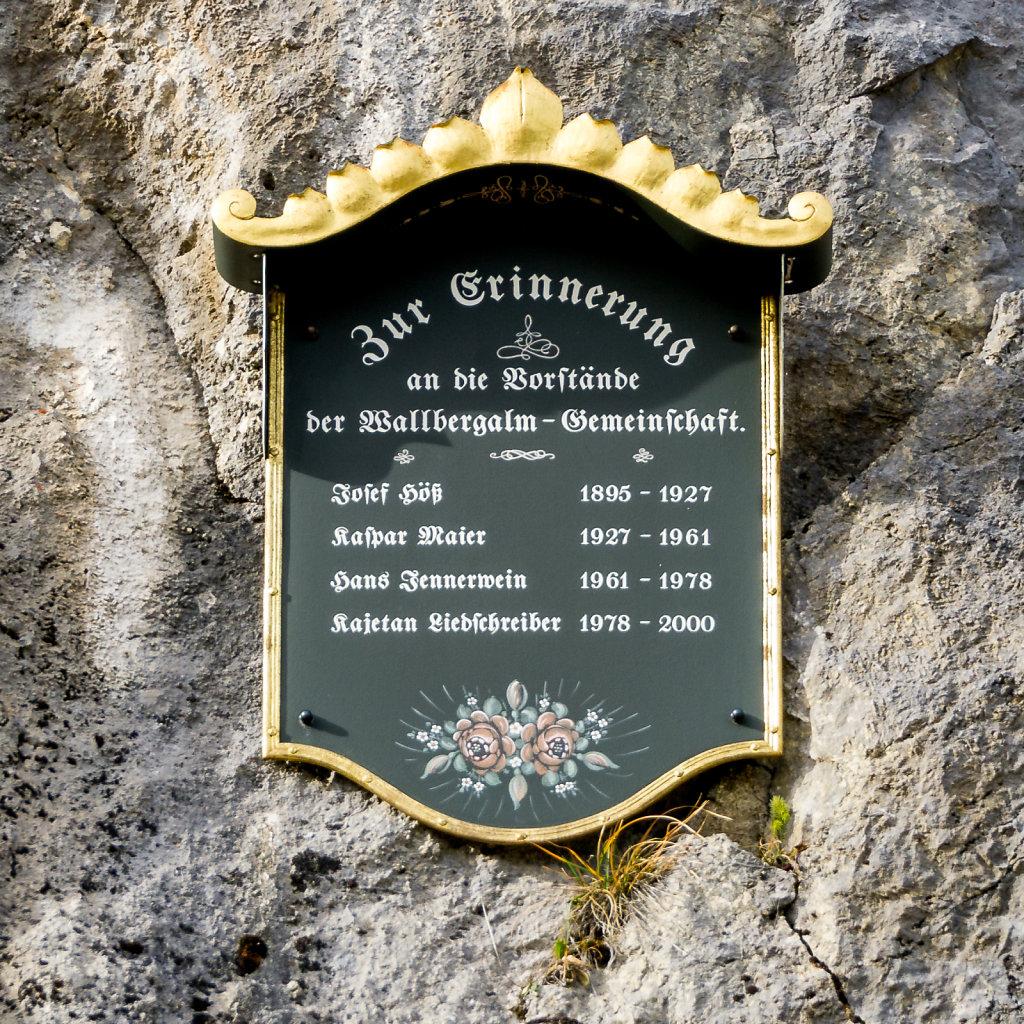 Wallbergalm Erinnerung